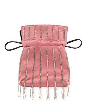 af51b1a6251 Les Petits Joueurs Trilly Nano Disco Stripe Satin Clutch Bag. Favorite