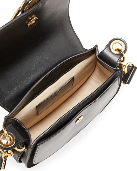 Image 3 of 5: Chloe Tess Large Leather/Suede Camera Crossbody Bag