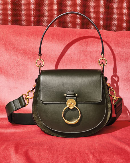 Image 2 of 5: Chloe Tess Large Leather/Suede Camera Crossbody Bag