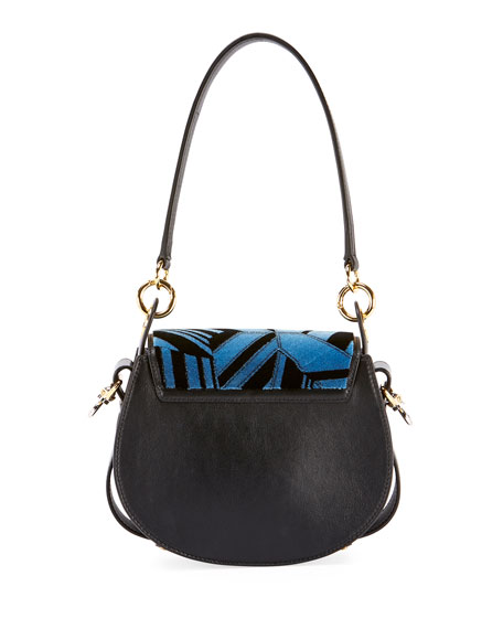 Tess Small Embroidered Leather Camera Crossbody Bag