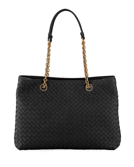 Bottega Veneta Intrecciato Small Double-Chain Tote Bag