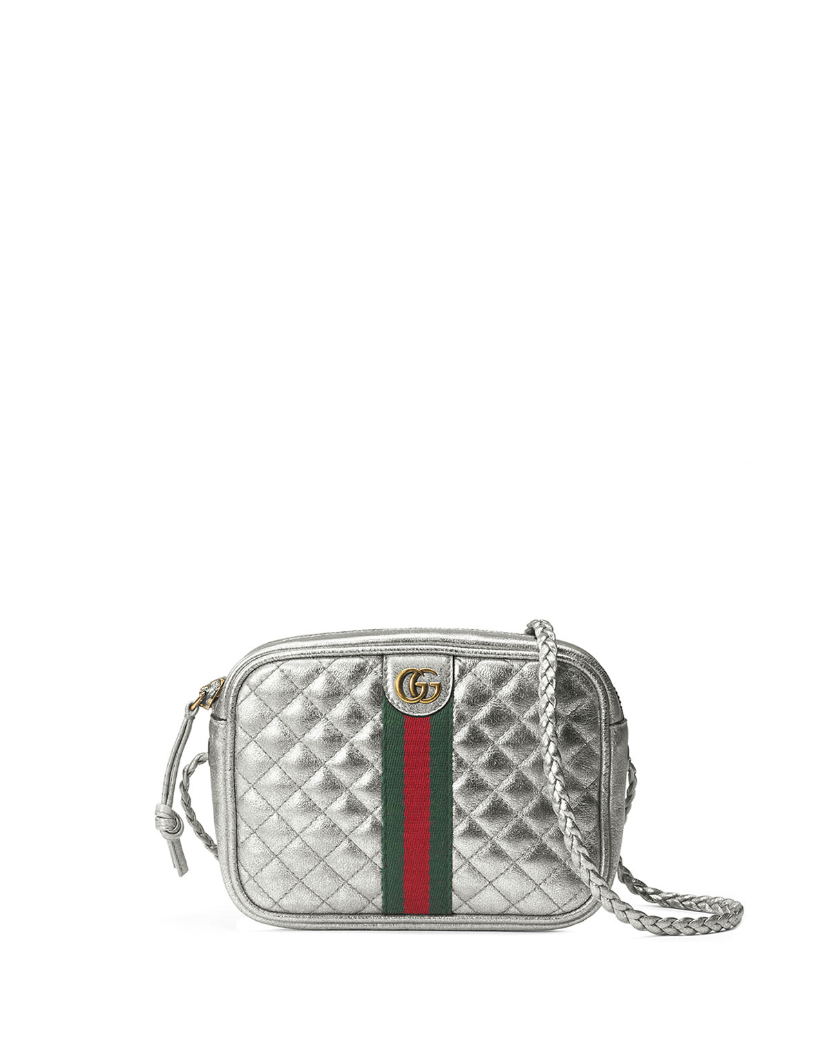 d86ac6855 Gucci Trapuntata Metallic Leather Mini Crossbody Bag | Neiman Marcus