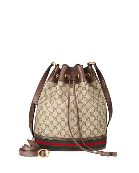 bad6314a58fc44 Gucci Ophidia GG Supreme Canvas Drawstring Bucket Bag | Neiman Marcus