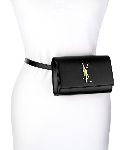 Saint Laurent Kate Monogram YSL Leather Belt Bag