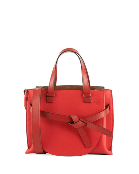 Loewe Gate Small Leather Top-Handle Tote Bag