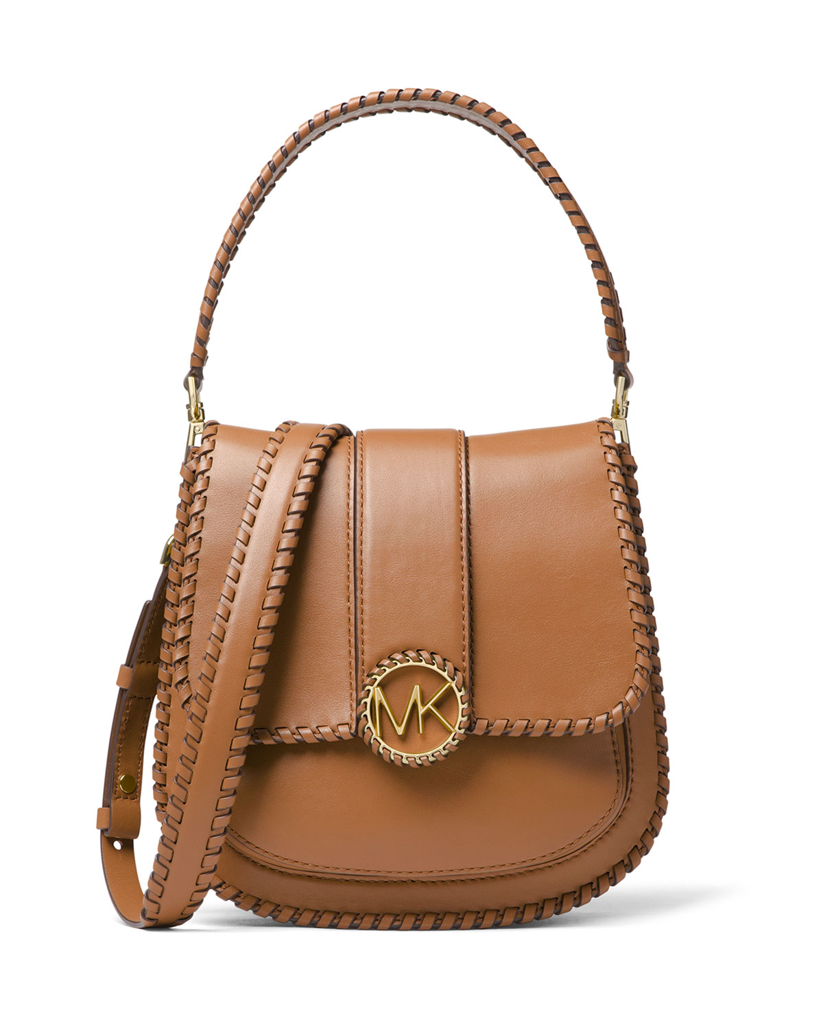 6c5ec70c5664 MICHAEL Michael Kors Lillie Medium Leather Flap Crossbody Messenger ...
