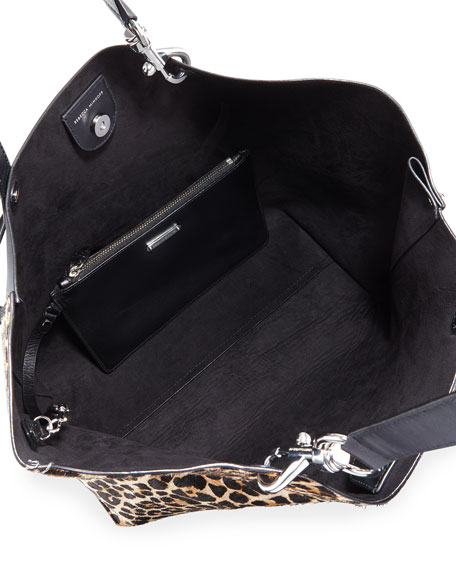Image 3 of 4: Stella Large Leopard-Print Tote Bag