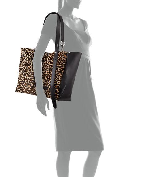 Rebecca Minkoff Stella Large Leopard-Print Tote Bag