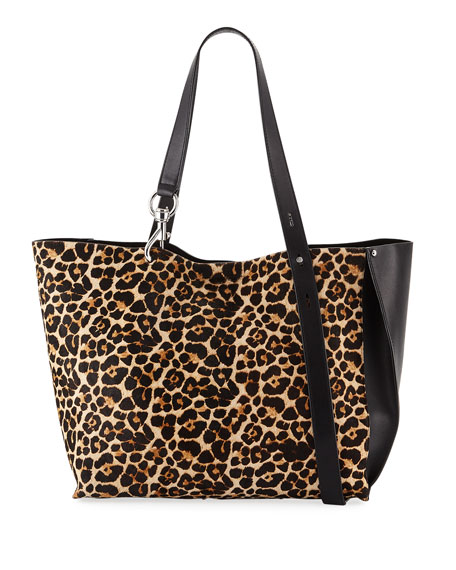 Image 1 of 4: Stella Large Leopard-Print Tote Bag