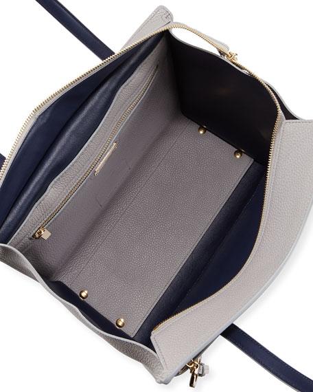 Salvatore Ferragamo Amy Pebbled Leather Top-Handle Bag