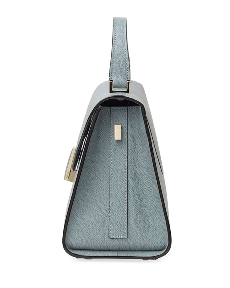 Image 3 of 4: Valextra Iside Medium Leather Top-Handle Bag