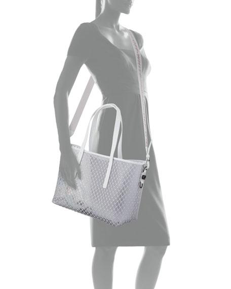 Off-White PVC Net Shopper Tote Bag, White