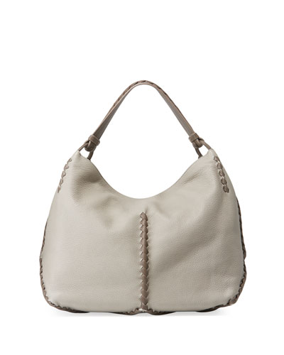 Leather Cervo Hobo Bag