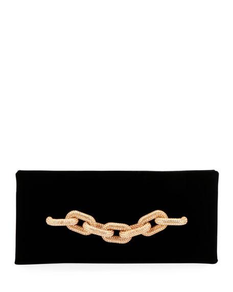 TOM FORD Velvet Pave Chain Clutch Bag