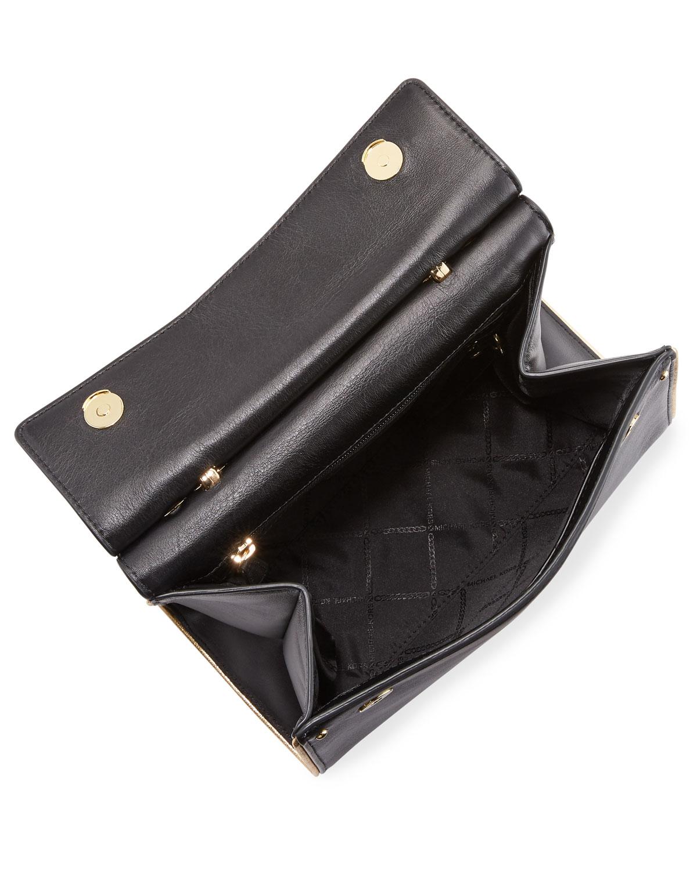 082b427dda1b MICHAEL Michael Kors Jasmine Medium Leather Satchel Bag - Golden Hardware |  Neiman Marcus