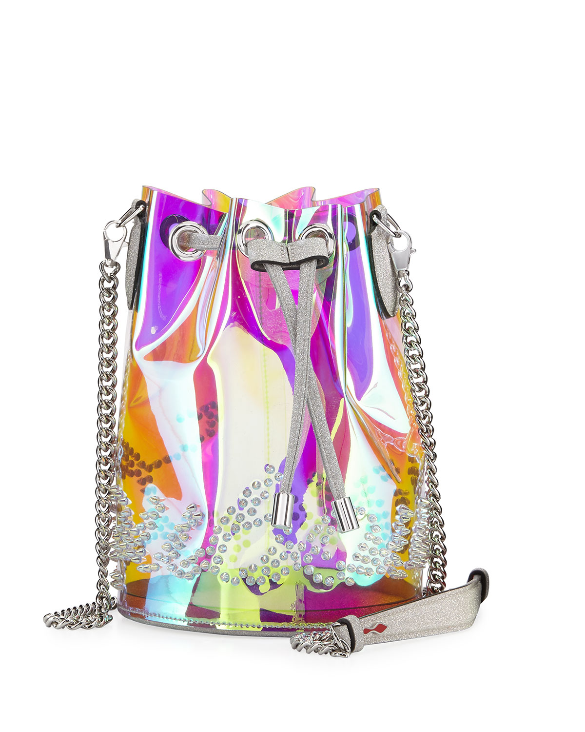 ddb1fbe2ab98 Christian Louboutin Marie Jane Mini GlitterSunset PVC Bucket Bag ...