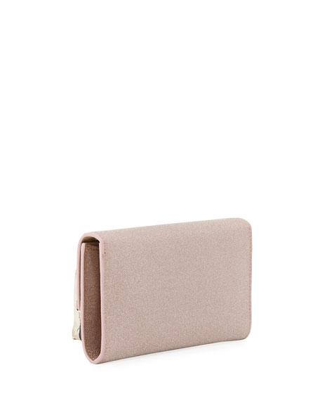 Jimmy Choo Emmie Fine Glitter Fabric Clutch Bag
