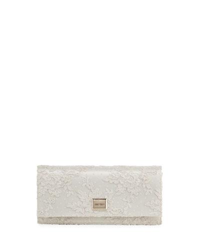 Lilia Floral Lace Clutch Bag