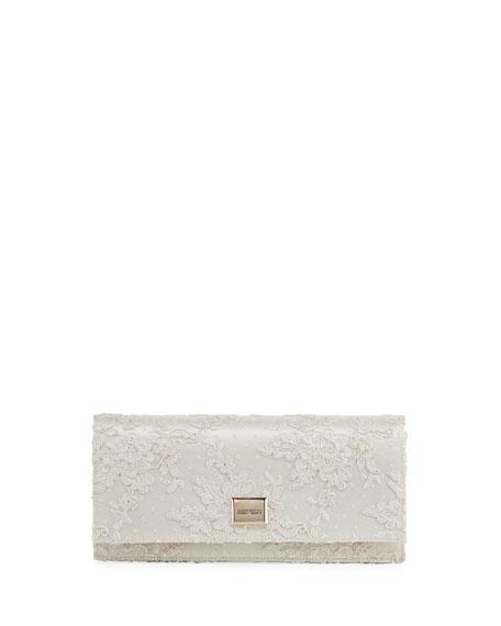 Jimmy Choo Lilia Floral Lace Clutch Bag