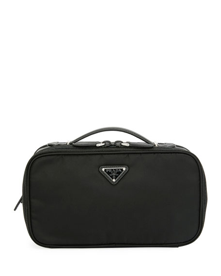 Prada Small Nylon Beauty Bag With Contrast Lining