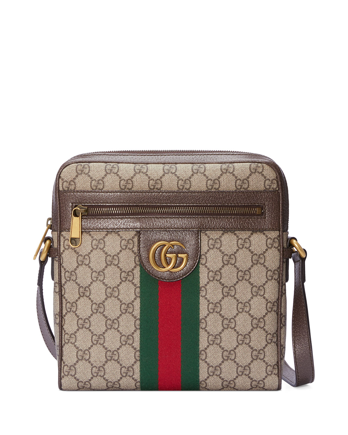 1b658e785 Gucci Ophidia GG Supreme Canvas Messenger Bag | Neiman Marcus
