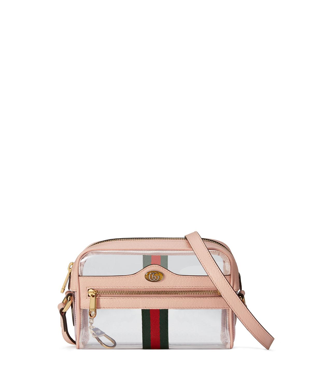 23e392852 Gucci Ophidia Mini See-Through PVC Camera Crossbody Bag | Neiman Marcus