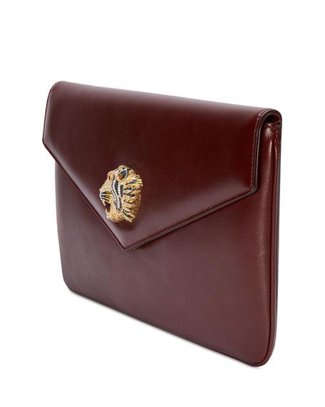 Gucci Leather Envelope Clutch Bag
