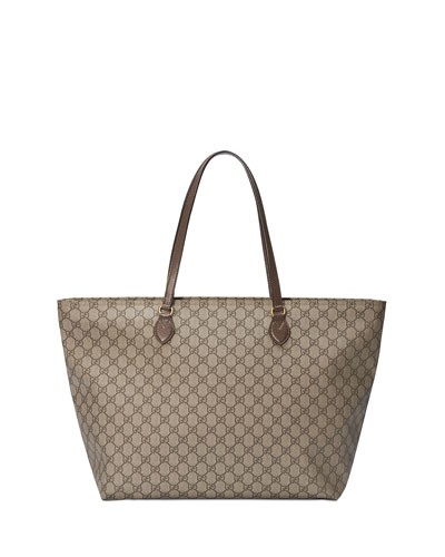 Ophidia Medium Soft GG Supreme Canvas Tote Bag