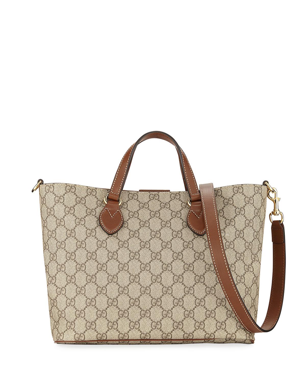 ed867adcc56354 Gucci Eden Small GG Supreme Tote Bag | Neiman Marcus