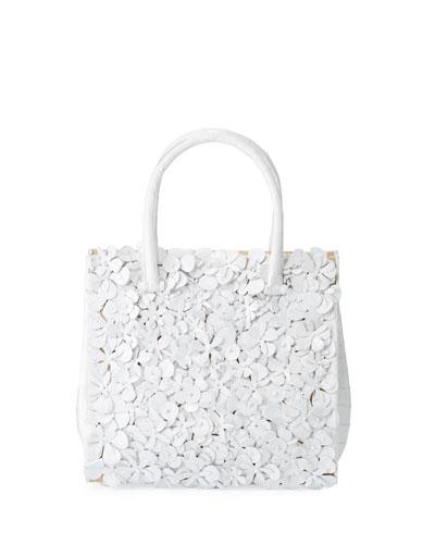 Tess Medium Linen Floral Tote Bag
