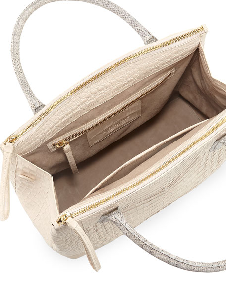 Nancy Gonzalez Nyx Medium Zip Crocodile Tote Bag