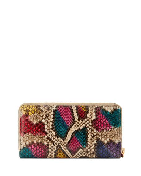 Gucci GG Marmont Python Zip-Around Wallet
