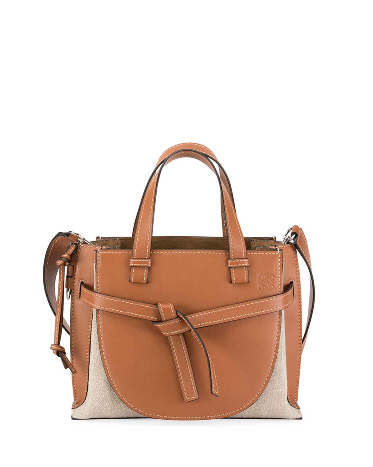 a166bf012196a Loewe Gate Small Leather Top-Handle Tote Bag | Neiman Marcus