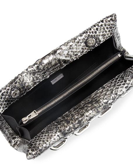 TOM FORD Python Chain-Handle Clutch Bag