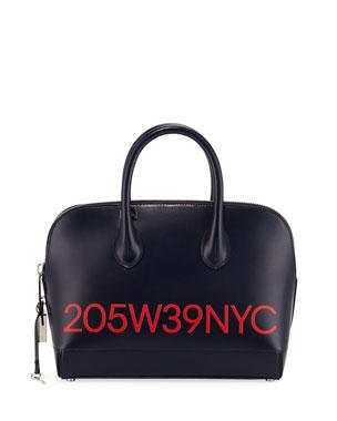 3de0fb73ee CALVIN KLEIN 205W39NYC Dalton Small Smooth Leather Top-Handle Bag