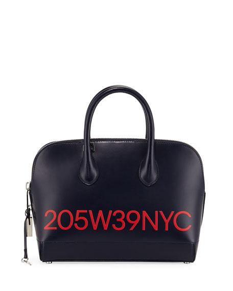 CALVIN KLEIN 205W39NYC Dalton Small Smooth Leather  Top-Handle Bag