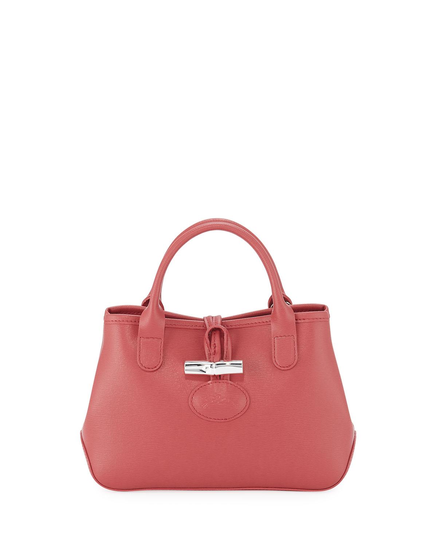 Roseau Mini Grain Leather Top-Handle Crossbody Bag