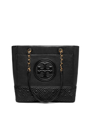 3ba73f2680 Tory Burch Fleming Chain-Handle Leather Tote Bag