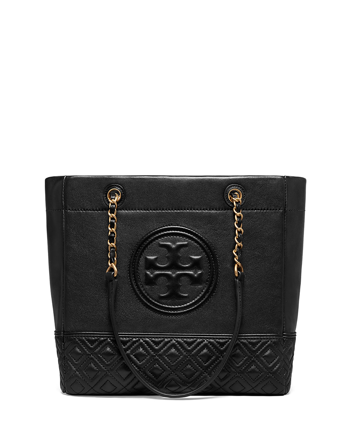 ce54becfe1a Tory Burch Fleming Chain-Handle Leather Tote Bag | Neiman Marcus