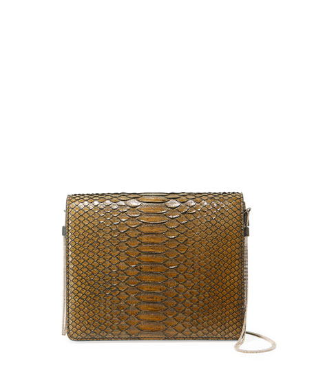 Brunello Cucinelli Python Chain Crossbody Bag