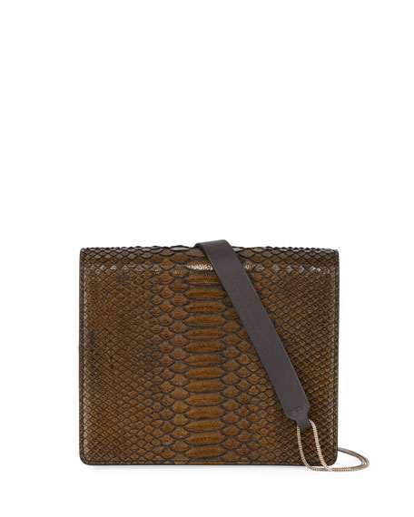 Brunello Cucinelli Python Snakeskin Crossbody Bag