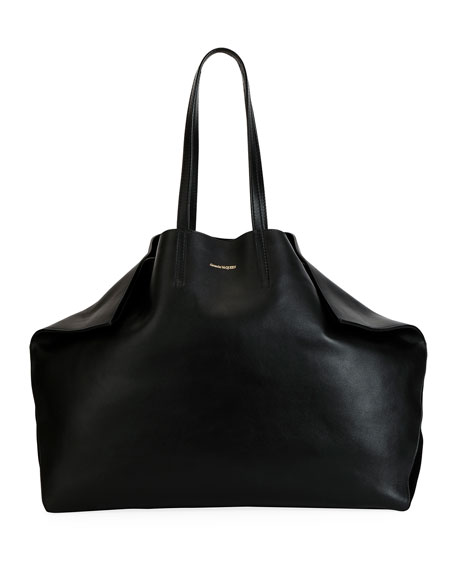 Alexander McQueen Large Butterfly-Shaped Leather Tote Bag