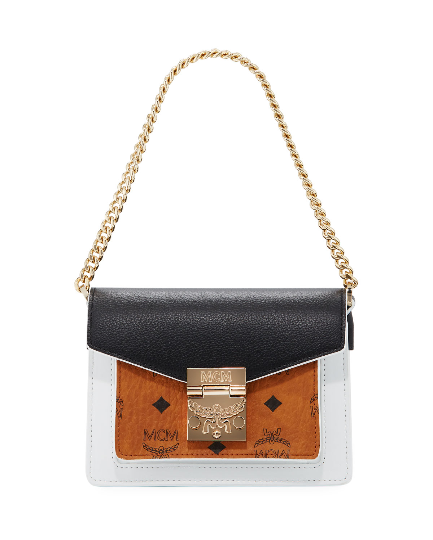 ac9af6548a3 MCM Patricia Mini Visetos   Leather Block Crossbody Bag