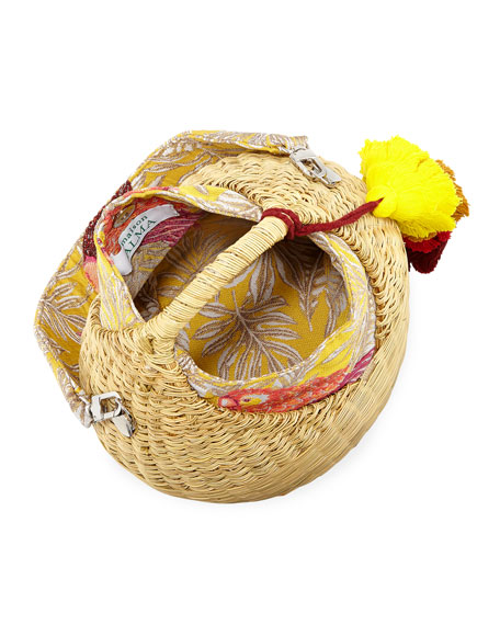 Maison Alma Heart Basket Crossbody Bag