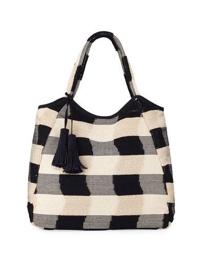 Emma Cotton Plaid Tote Bag