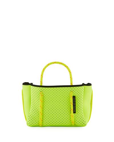 Perforated Neoprene Small Crossbody Bag  Bright Yellow