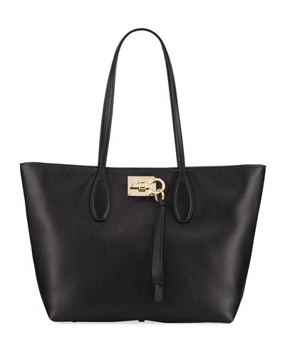 Studio Small Leather Tote Bag