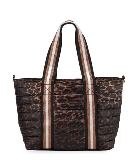 Think Royln Wingman Leopard-Print Quilted Tote Bag