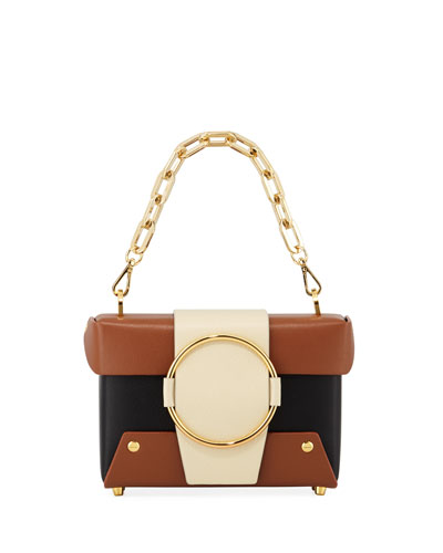 Asher Colorblock Crossbody Bag  Black