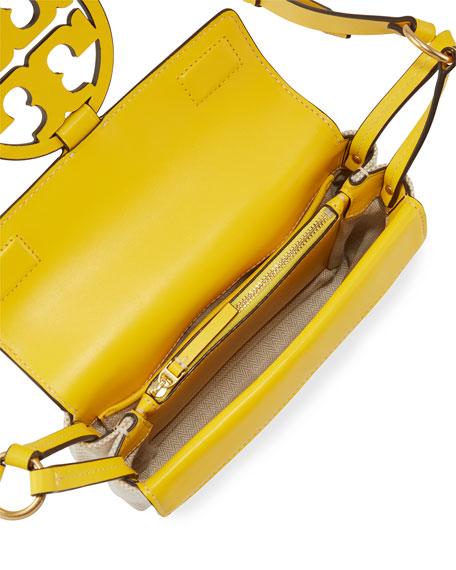 Tory Burch Miller Two-Tone Canvas Crossbody Bag